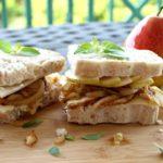 chicken caramelised onion & pear sandwich