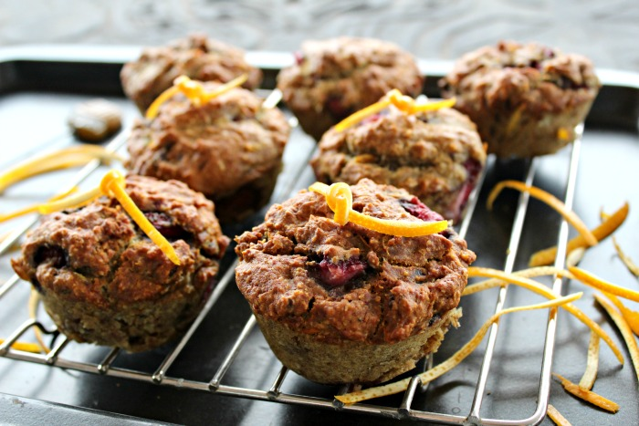 orange & strawberry breakfast muffins | berrysweetlife.com