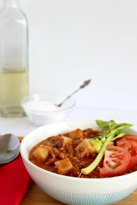 lentil sweet potato & tomato stew | berrysweetlife.com