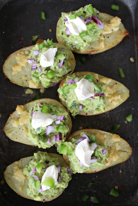Potato Halves with Melted Cheese & Guacamole | www.berrysweetlife.com