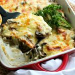 Brinjal Mushroom & Mozzarella Lasagne. A vegetarian feast for cheese lovers! Very quick & easy dish that is so tasty & comforting. You will love this recipe | berrysweetlife.com