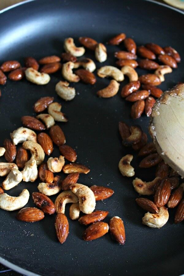 Chocolate Dusted Almonds No Glaze