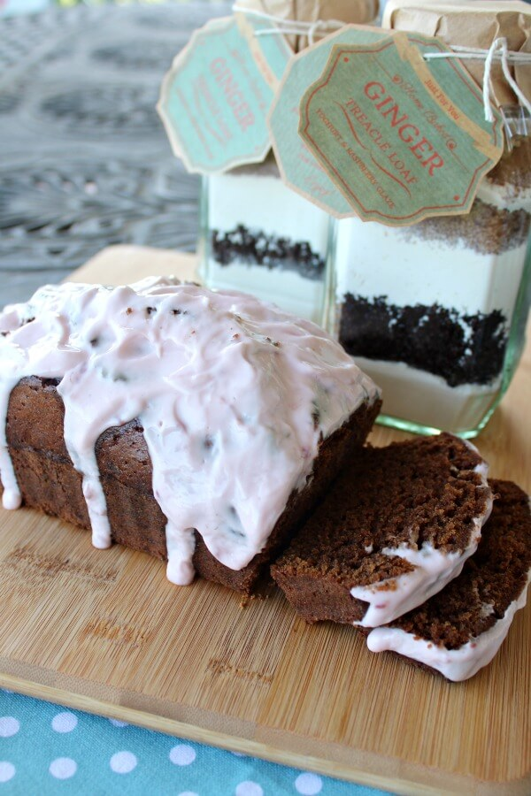 Ginger Treacle Loaf with Yoghurt Raspberry Frosting | www.berrysweetlife.com