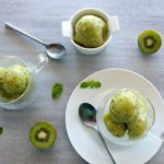 2 Ingredient Banana Kiwi Sorbet Scoops. All you need is Bananas Kiwis & 15 minutes! Healthy, quick, easy & yum! A perfect summer treat for the whole family   berrysweetlife.com