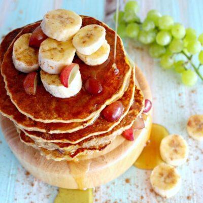 Healthy Oatmeal Bran Banana Pancakes