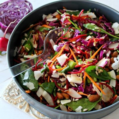 Red Cabbage Spinach & Beetroot Detox Salad