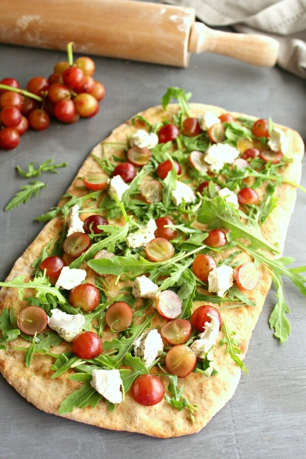 Tomato and Goats' Cheese Pizza Recipe