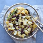 Black Olive Rosemary New Potato Salad. An easy going salad that is simple to make, healthy & delicious! Everyone will be asking for the recipe! | berrysweetlife.com