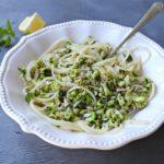 Fresh Lemon Basil Broccoli Spaghetti. Got 15 minutes? Make this light & healthy meal that has broccoli, lemon, fresh basil & sunflower seeds | berrysweetlife.com