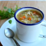 Healthy Homemade Celery Carrot Chicken Soup. The BEST quick & easy Chicken Soup! So much flavour & goodness, perfect for a kitchen supper with family & friends | berrysweetlife.com