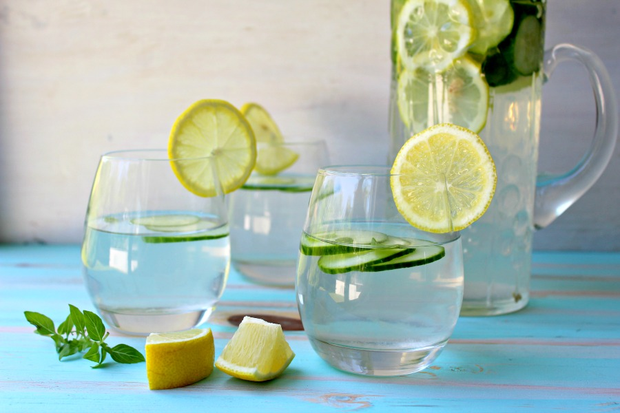Lemon Basil Cucumber Infused Water | Berry Sweet Life