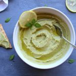 5 Minute Avocado Basil Hummus. Got 5 minutes? Make this healthy, tasty hummus. It goes with crackers, sandwiches, wraps or pasta | berrysweetlife.com