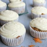Easy Cream Cheese Frosted Carrot Pecan Cupcakes. Delicious nutty carrot cupcakes made with brown flour. Great for birthdays, kids & adults adore these | berrysweetlife.com