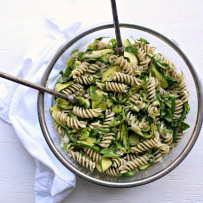 Green Goddess Pesto Pasta Salad