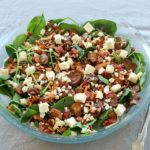 Balsamic Mushroom Bacon & Spinach Salad. A truly yummy combo, perfect for all seasons and all occasions. This is a versatile salad that looks just as good as it tastes! | berrysweetlife.com