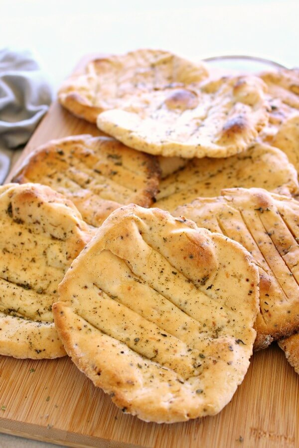 Easy Crunchy Mustard Herb Flatbreads. Gluten & dairy free, these savoury flatbreads are very quick & easy to make. Everyone will enjoy these! | berrysweetlife.com