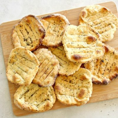 Easy Crunchy Mustard Herb Flatbreads