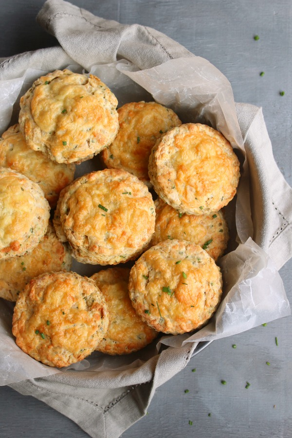The best ever Savoury Cheese & Chive Scones are soft & flaky with melted cheese on top, they're easy to make and bake to golden perfection in 20 minutes | berrysweetlife.com