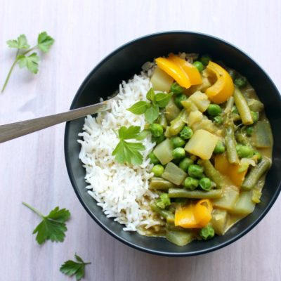 Vegetable Coconut Thai Green Curry