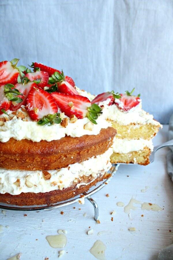 Almond Berry Layer Cake