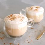 Almond Coconut Chai-Tea Latte. Warm and spicy with a touch of sweetness, this homemade latte is the perfect healthy hot drink for the whole family! | berrysweetlife.com