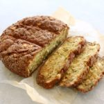 Simple Zucchini Feta Soda Bread. Only 20 minutes to prepare, this easy recipe makes a large loaf of flavoursome, crispy on the outside, soft in the centre savoury bread! | berrysweetlife.com