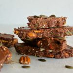 Super Food Chocolate Orange Pecan Bark. A ridiculously YUMMY and healthy dessert or snack. Takes just 12 minutes to prepare and will be a hit with the whole family! | berrysweetlife.com