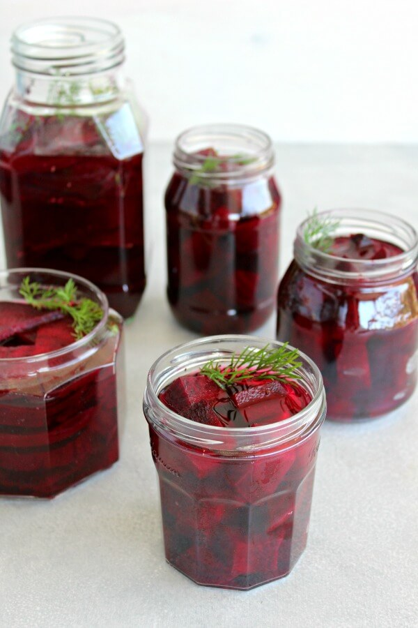 5 Ingredient Healthy Pickled Beets. No sugar, lightly pickled, delicious Super Food beets that will last for weeks in the fridge! Just under an hour to prepare | berrysweetlife.com