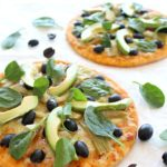 Artichoke Avo Black Olive Pizza. A 20 minute, healthy and delicious pizza - bursting with flavour and goodness! | berrysweetlife.com