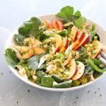 Avocado-Wild Rice Nectarine Chicken Salad. A simple, 15 minute salad that is a complete meal in one bowl. Packed with flavour, creaminess and healthy goodness! | berrysweetlife.com