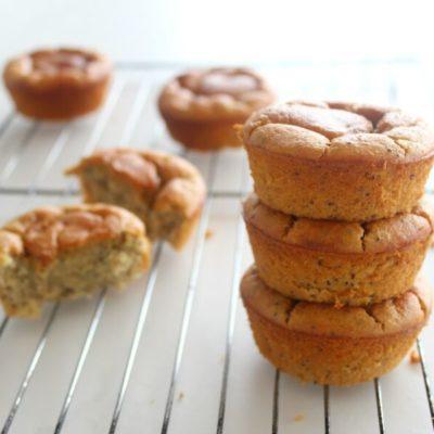 Easy Lemon Poppy Seed Blender Muffins