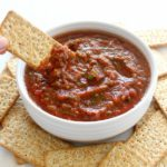 Favourite Homemade Tasty Tomato Salsa. The simplest, most DELICIOUS 5 minute salsa made with fresh, healthy veggies, spices and herbs | berrysweetlife.com