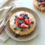 Classic French mini Berry Apricot Almond Tarts recipe - easy to make with ground almonds and shortcrust pastry for a tea time treat or with a little cream or ice cream, a delicious dessert! | berrysweetlife.com