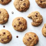 Soft in the middle, chunky, buttery, The Best Coffee Chocolate Chip Cookies studded with dark chocolate chips and chopped pecan nuts. These are dangerously good! | berrysweetlife.com