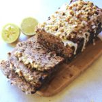 Moist, easy to make fruit and nut loaf recipe with a twist! This Walnut Fruit Loaf With Lemon Icing is the best combination of flavours, enjoy a slice with a cup of tea or coffee! | berrysweetlife.com