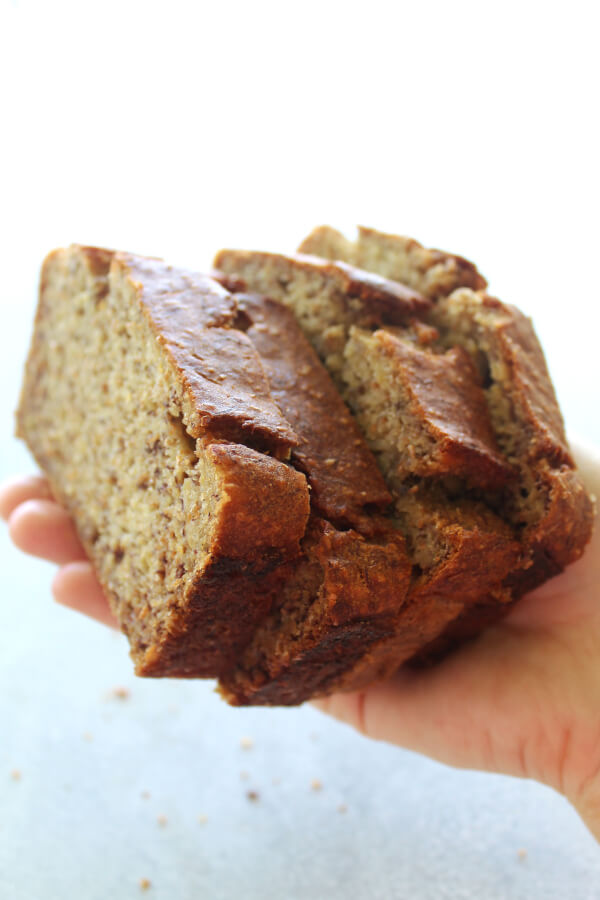 Completely healthy banana bread berry sweet life a completely healthy banana bread recipe that is super moist and delicious this recipe has forumfinder Image collections