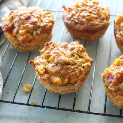 Easy Savoury Corn Zucchini Muffins