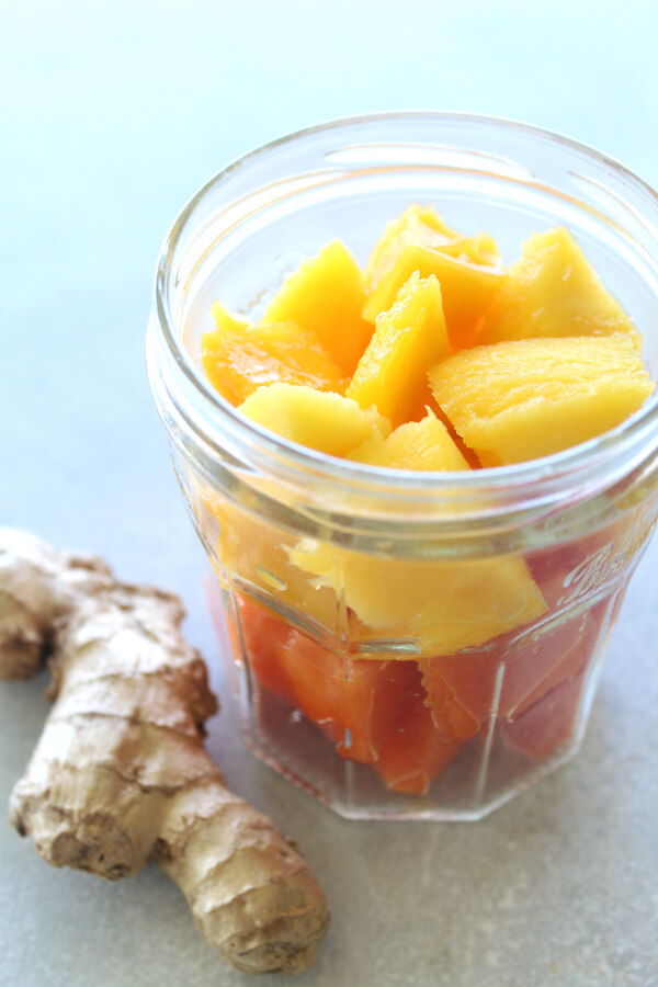 Nourishing Mango Papaya Ginger Smoothie