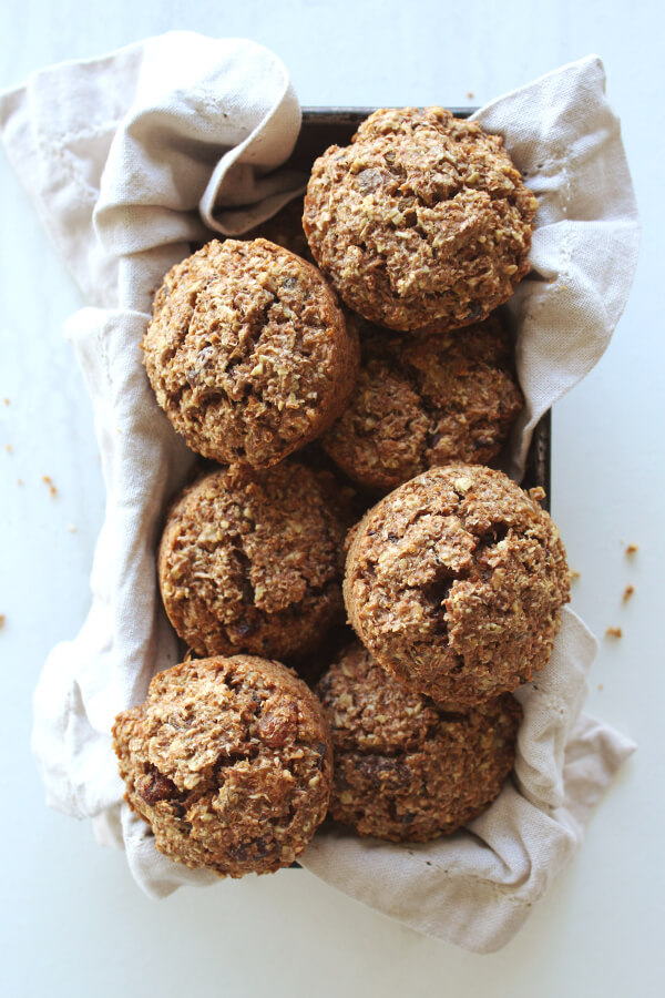 Sugar And Dairy Free Raisin Bran Muffins | berrysweetlife.com
