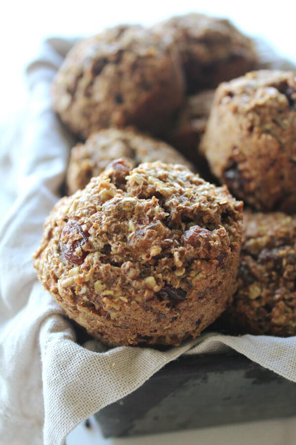 Sugar And Dairy Free Raisin Bran Muffins