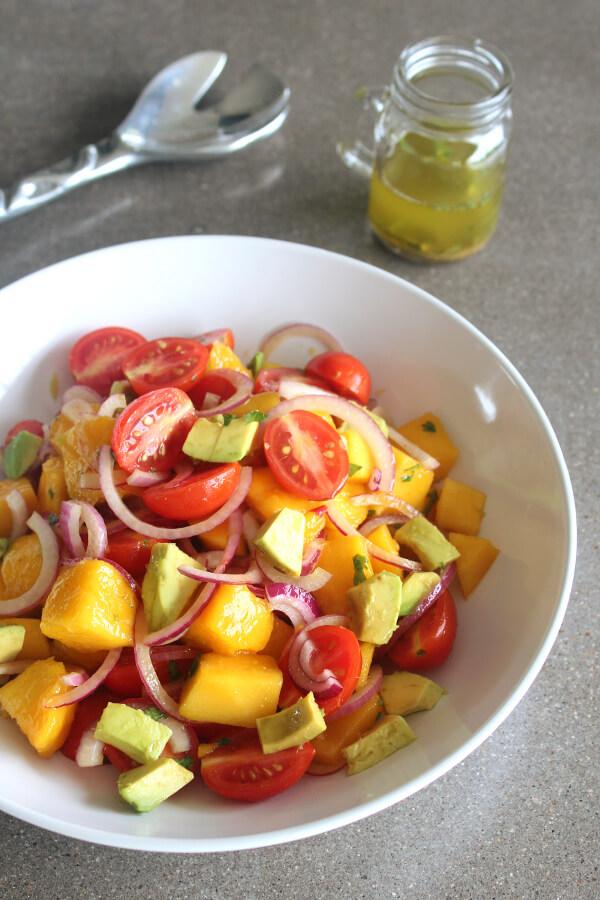 Summer Fiesta Mango Avocado Red Onion Salad Berry Sweet Life