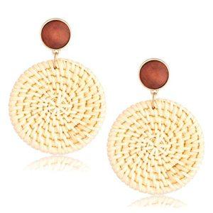 Rattan Round Earrings