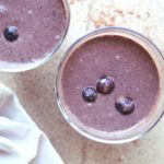The most satisfyingly delicious, thick and creamy smoothie full of healthy goodness - This Cacao Blueberry Dessert Smoothie is heaven-sent | berrysweetlife.com