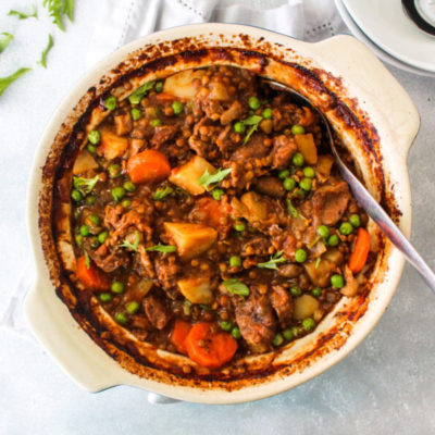 Crock Pot Beef And Lentil Stew | berrysweetlife.com